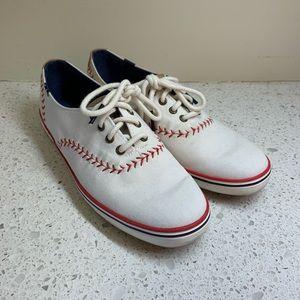 6184346468a Keds · Keds White Canvas Baseball Sneakers ...
